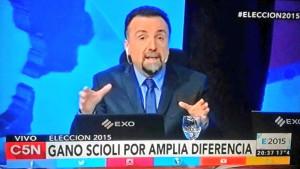 """La operación """"Ganó Scioli"""" en C5N, parte del bochorno."""
