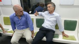 Larreta y Macri subte