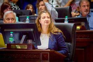 La legisladora María Rosa Muiños, autora del proyecto.