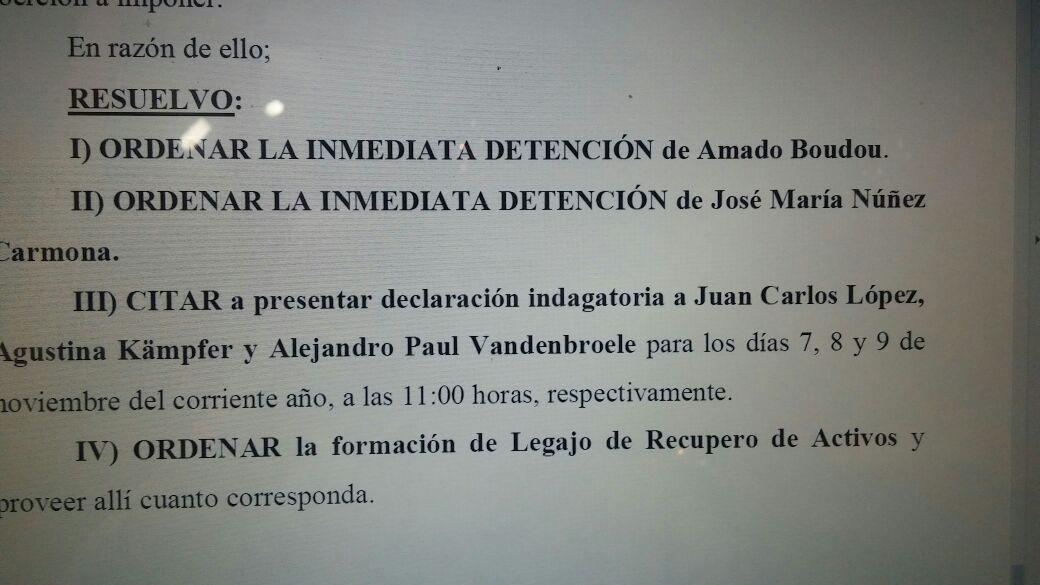 Detención y citaciones para el clan Boudou.