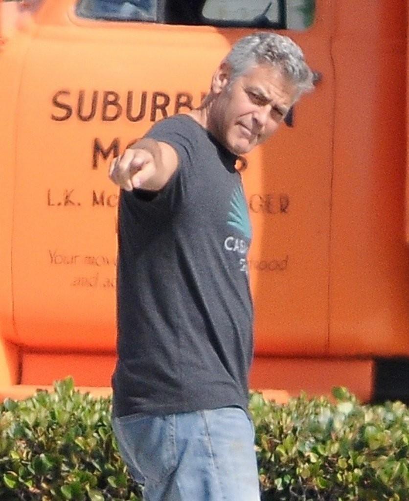 Clooney, en el set. ¿Víctima de la corrección política?