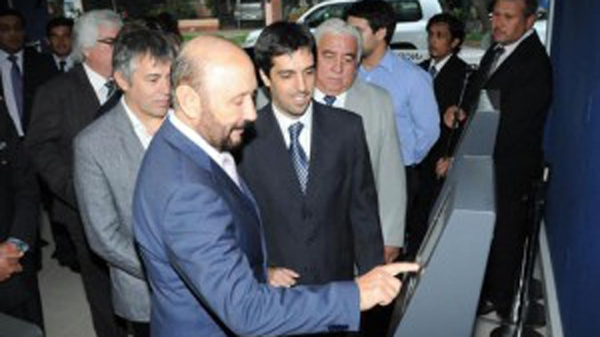 El gobernador Insfrán y el presidente del banco de Formosa, Martín Cortés. Nervios.
