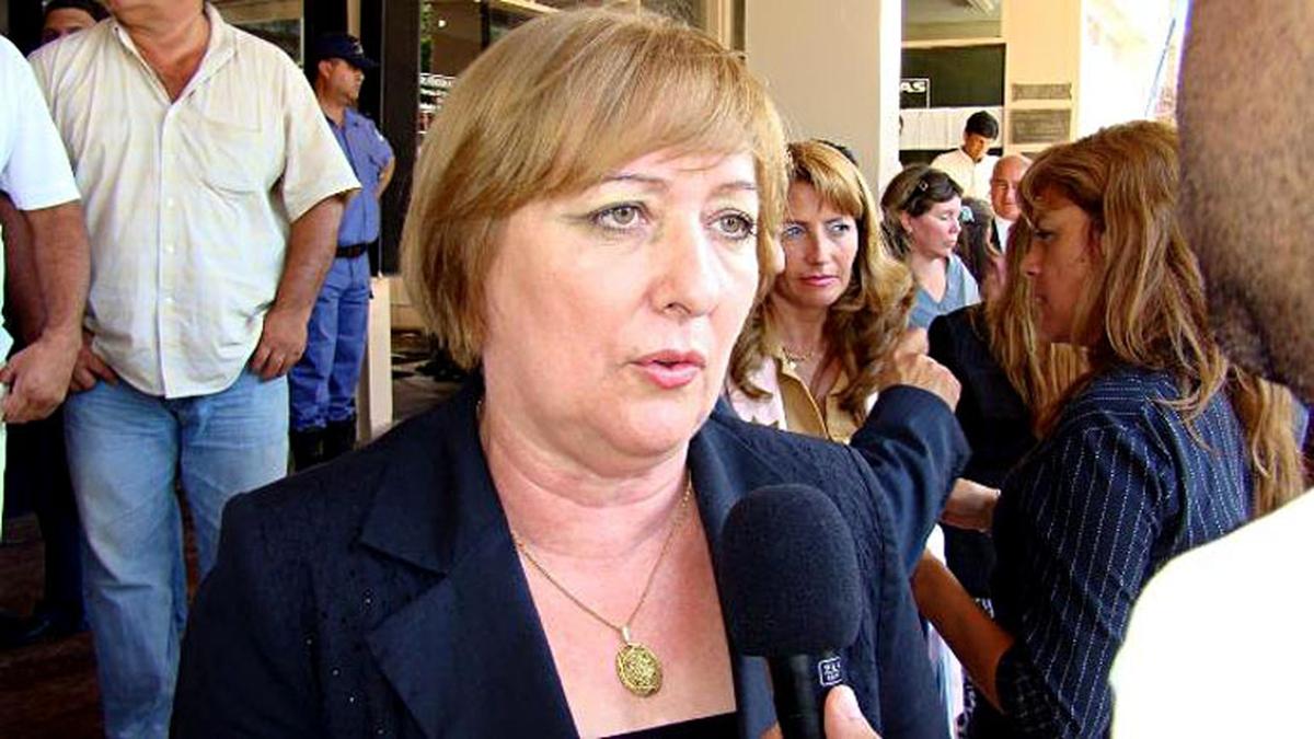 La diputada Lotto de Vecchietti, ex ministra de Economía formoseña. Con fueros.