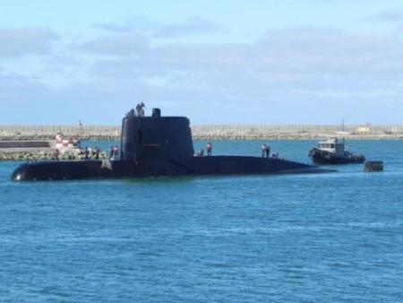 El desaparecido ARA San Juan al entrar a Mar del Plata