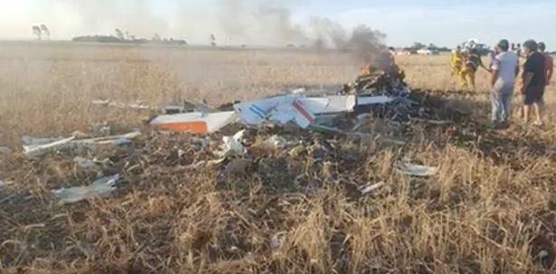 Imágines del avión accidentado.