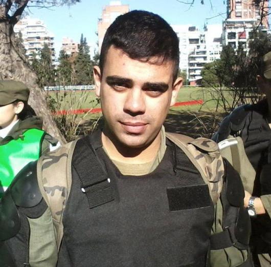 El policía federal Dante Barisone, ahora nuevamente detenido.