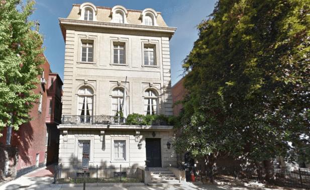 La residencia del embajador argentino en Washington, una de las propiedades a la vente en EE.UU.