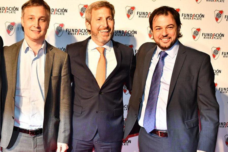 De Andreis, Frigerio y Díaz Gilligan, el año pasado, en la cena de la Fundación River.