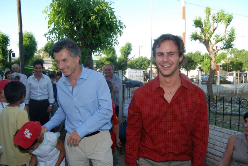 Macri, entonces jefe de Gobierno porteño y Pepa, socio de Nix.