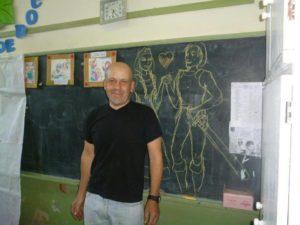 Garay, el artista que conmovió con su dibujo sobre Malvinas.