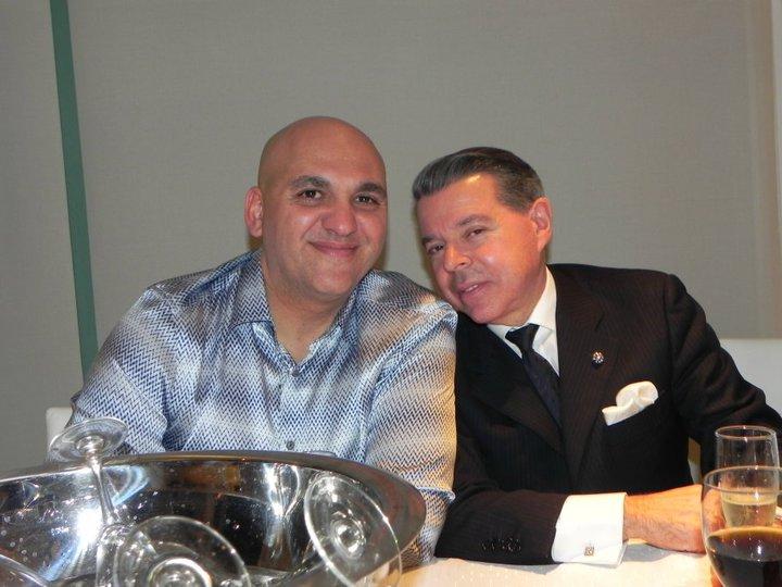 Ariel Roperti y el ex juez.