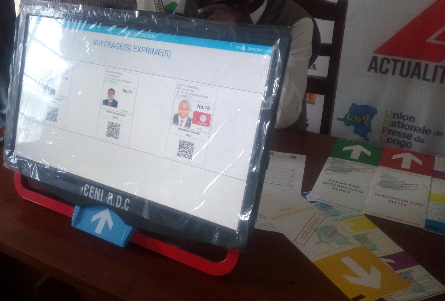 Boleta única electrónica de Miru Systems, que se usará en Congo.