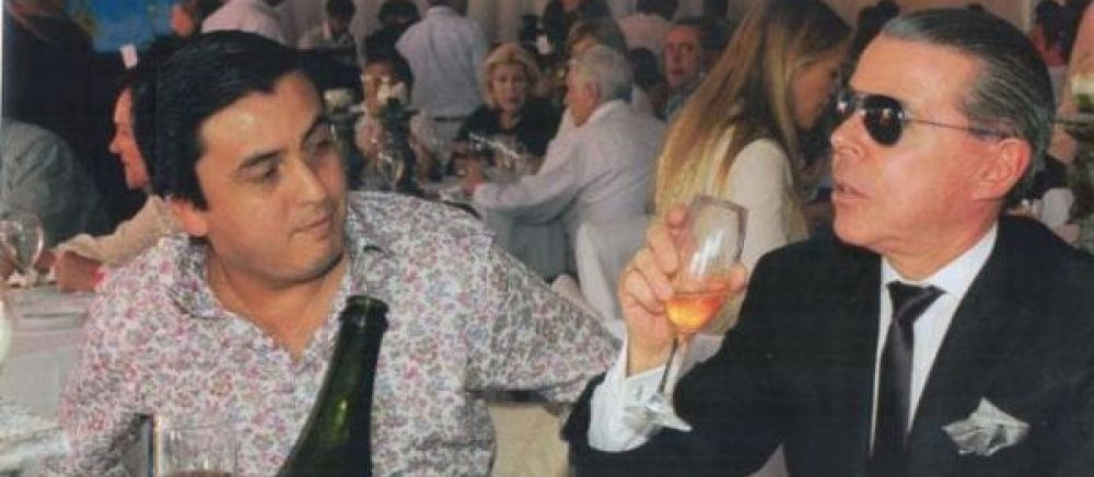 Claudio Blanco junto a su pareja Oyarbide.