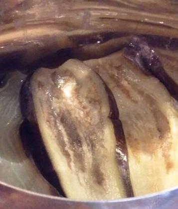 berenjenas cocidas