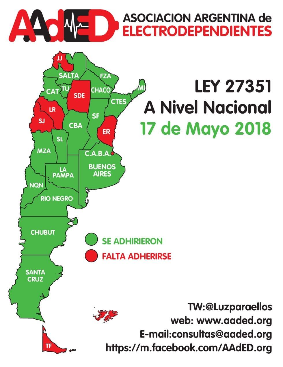 Las 6 provincias sin adherir a la ley nacional