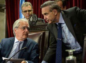 Pinedo y Pichetto, jefes de bancadas opuestas que coinciden y planchan.