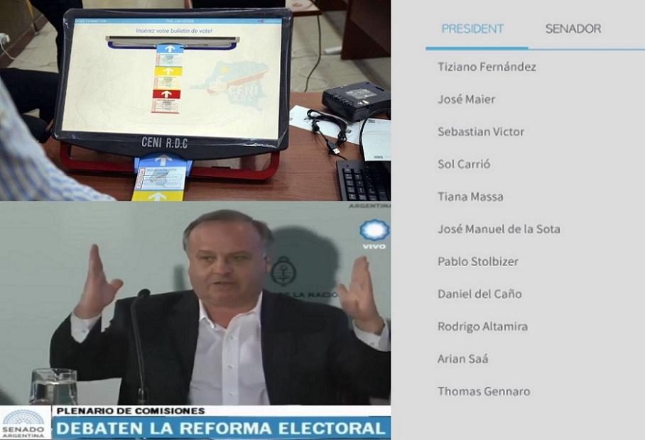 Las pruebas de que las máquinas de #VotoElectrónico del Congo se diseñaron para Argentina