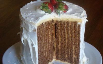 Recetas de Gricel: Cómo hacer una torta rayada para celebrar