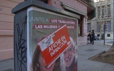 La izquierda, el espacio que más afiches ilegales colocó en la campaña porteña