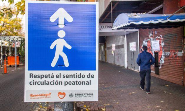 COVID19: en Berazategui las veredas tendrán un sentido único de circulación