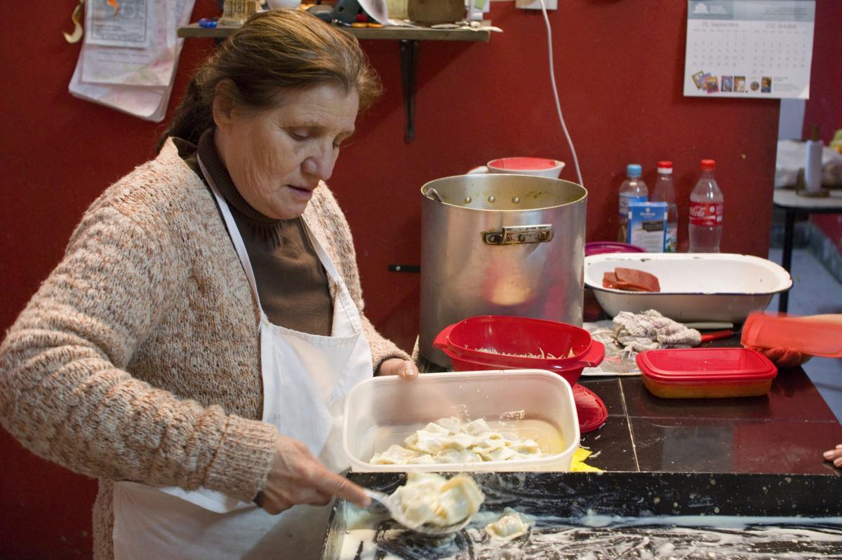Cocina comunitaria de la Villa 31.